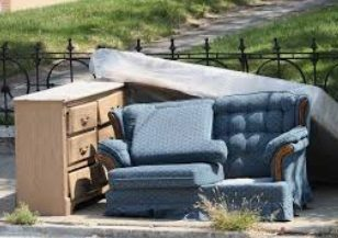 furniture junk on curb